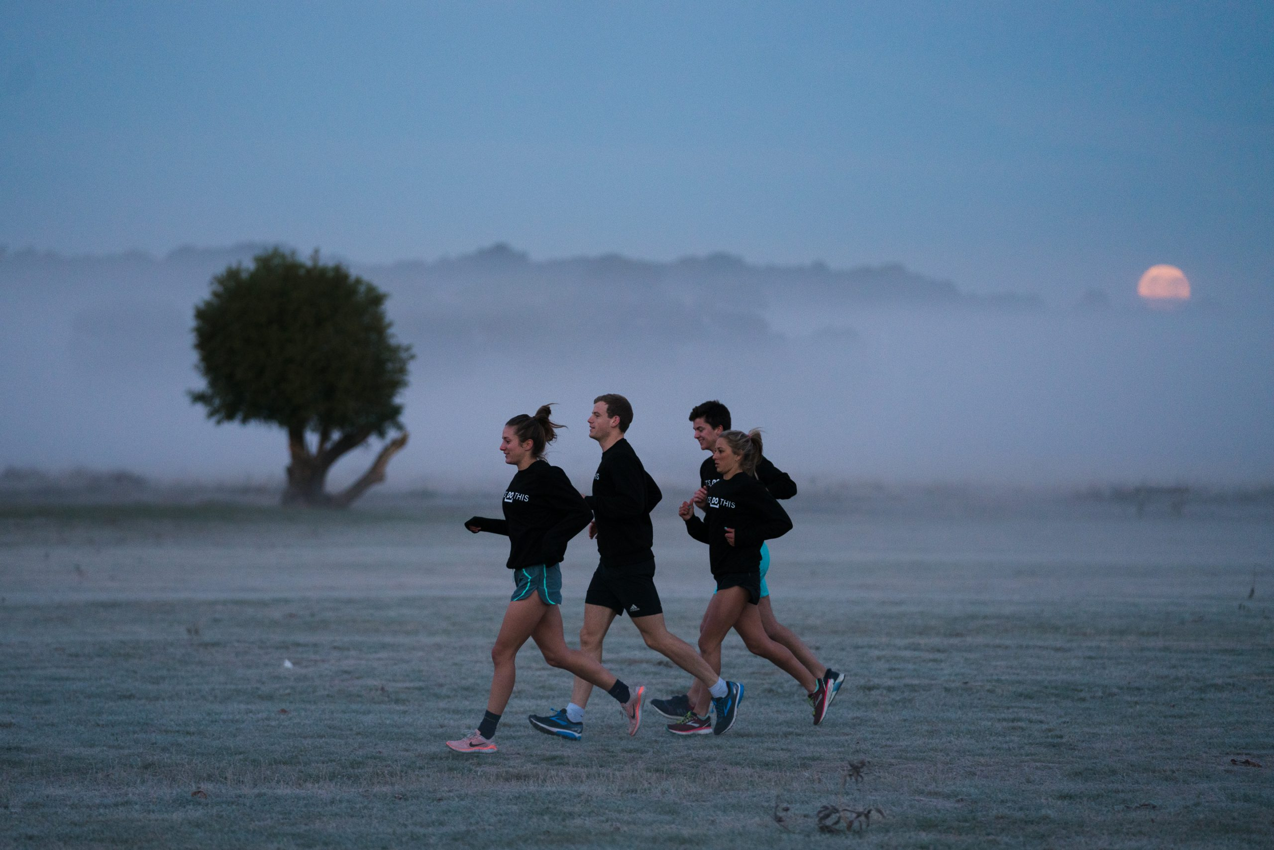 4 people on a morning run