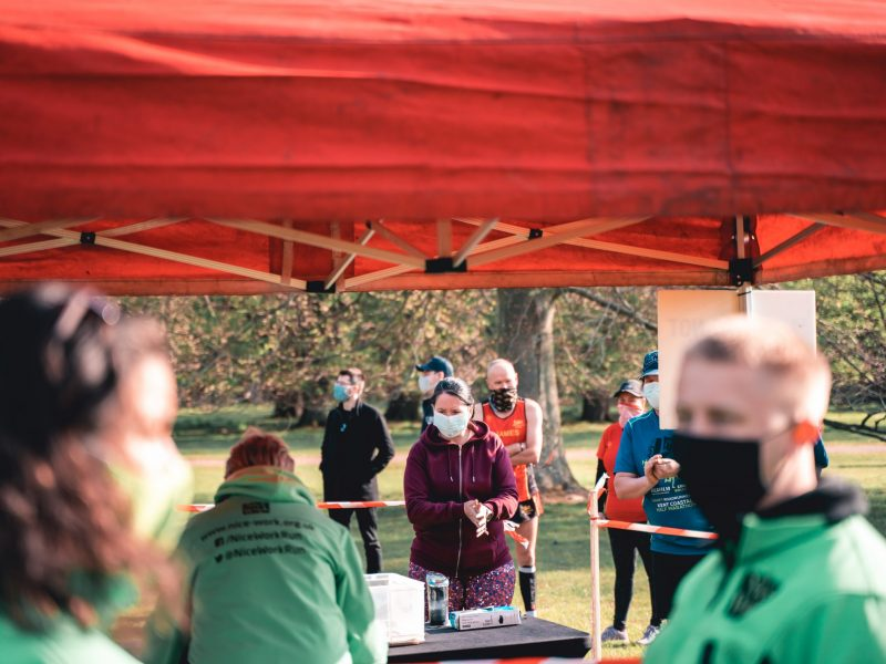 Masks being worn at a COVID-secure running event