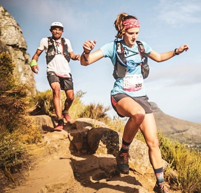 Manon (author) running at the Ultra Trail Cape Town